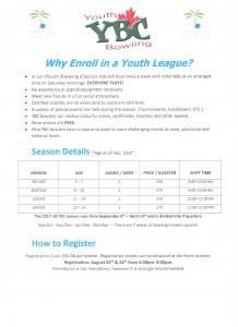 2017 Paradise Lanes YBC Registration Information Form